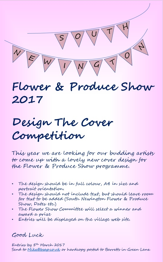Poster for Flower and Produce show 2017 Design the Cover competition