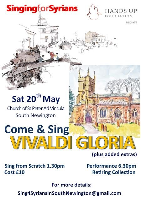 Poster for Singing For Syrians, May 2017