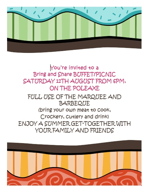 Poster for Buffet Picnic, August 2017
