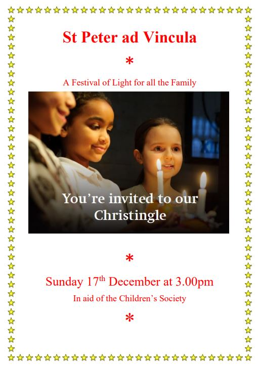 Poster for Christingle, December 2017
