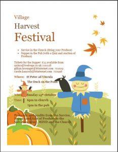 Poster for Harvest Supper - October 2018
