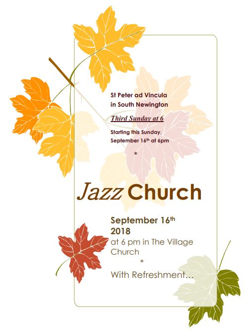 Poster for Jazz Church - September 2018