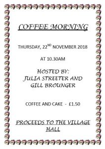 Poster for coffee morning in November 2018