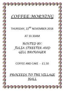 Poster for coffee morning in November 2018